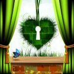 Heart of grass — Stock Vector