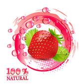 草莓的枫叶 — 图库矢量图片