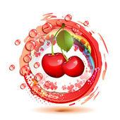 Ripe cherry — Stockvektor