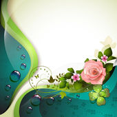 Background with flower — Stock Vector