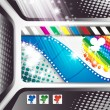 Banner with film frames - Stock Vector