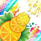 Slices orange — Vecteur