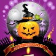Royalty-Free Stock Vector Image: Halloween card design