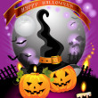 Halloween card design - Stock Vector