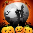 Halloween card design - 