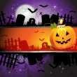 Halloween card design - Vettoriali Stock