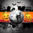 Halloween card design - Stok Vektr