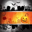 Halloween card design — Image vectorielle