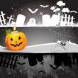 Halloween card design - Stockvectorbeeld