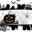 conception de cartes Halloween — Vecteur