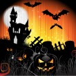 Halloween card design - Image vectorielle