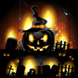 Halloween pumpkin — Vector de stock #12352177