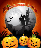 Design karty halloween — Stock vektor