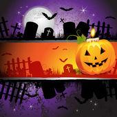 Cadılar bayramı kartı tasarımı — Stok Vektör
