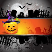 Halloween card design — Stock Vector