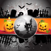 Halloween kortdesign — Stockvektor
