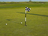 Golf flagstick — Stock Photo