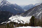 A view into Alp from Bernina Pass — Stock Photo