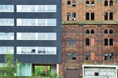 City renovation, old and new — Stock Photo