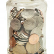 Jar with money — Stock Photo