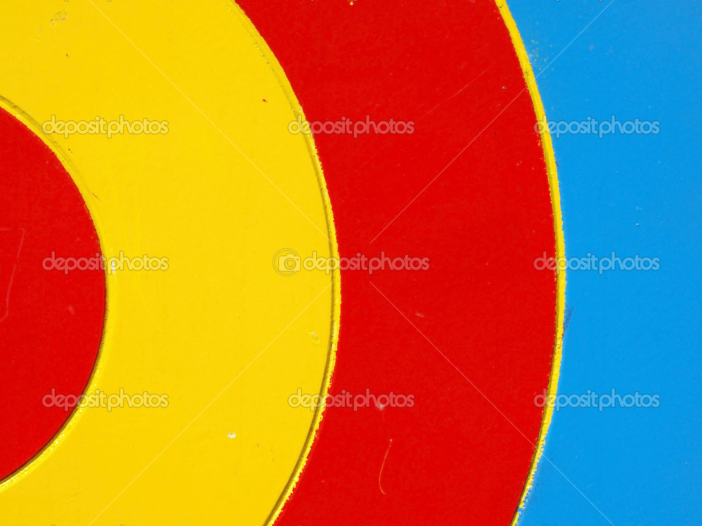 Colored wooden target. Background — Stock Photo #10962089