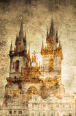 Prague church — Stock Photo