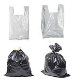 White plastic bag trash garbage — Stock Photo