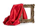 Houten frame en zijde dekking — Stockfoto