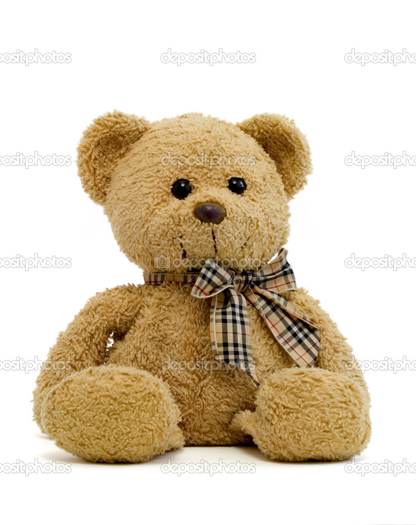 Teddy bear on a white background with clipping path — Stock Photo #10788502