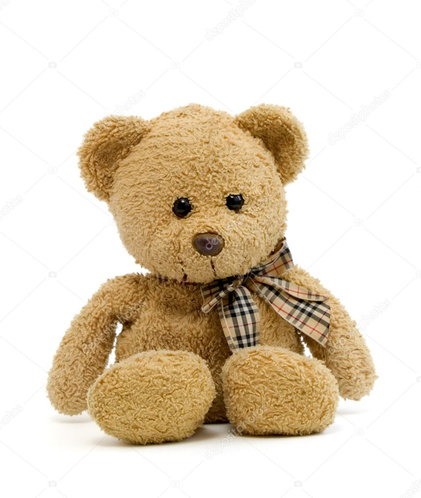 Teddy bear on a white background with clipping path  Stock Photo #10788655
