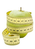 Apple and centimeter 1 — Stock Photo