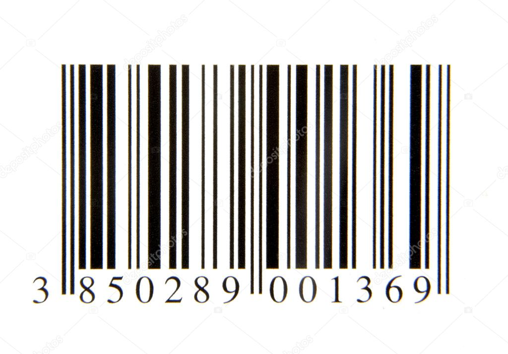 Close up of bar code on white background — Stock Photo #10891127