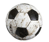 Soccer ball dirty — Stock Photo