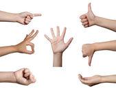 Linguagem corporal de mão gesto — Fotografia Stock