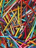 Fondo de Educación de la escuela de lápices de colores — Foto de Stock