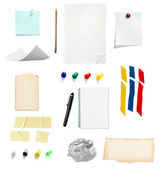 Note reminder business office supplies — Stock Photo