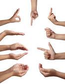 Linguagem corporal de mão gesto — Foto Stock