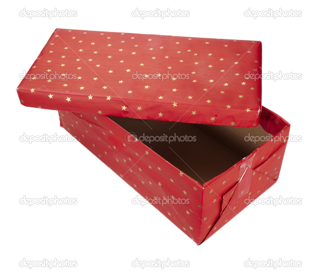 Close up of red present box  on white background with clipping path  Stock fotografie #11165537