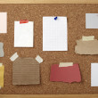 Brown old paper note background cork board — Stock Photo #11171282