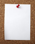 Brown old paper note background cork board — Stock Photo