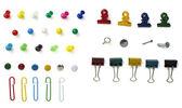 Push pin clip de papel — Foto de Stock
