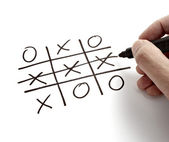 Tic tac toe leisure game mental scribble — Stock Photo
