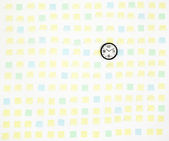 Note papers and clock on office wall business — Stock Photo