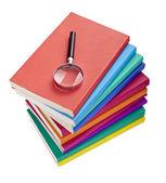 Libri colorati conoscenza istruzione saggezza letteratura ingrandimento — Foto Stock