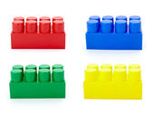 Toy lego block construction education childhood — Stock Photo