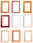 Wooden frame background decoration — Stock Photo