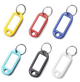 Key fob label chain — Stock Photo