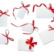 Red ribbon card note collection — Stock Photo #11292143