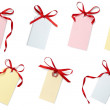 Royalty-Free Stock Photo: Red ribbon card note collection