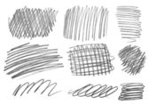 Pencil strokes art craft — Stock Photo
